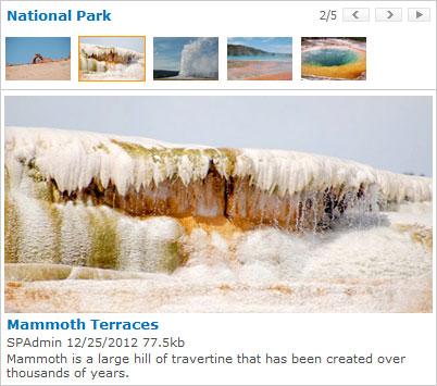 Full Photo Viewer Web Part screenshot